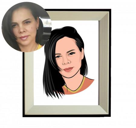 Tablou personalizat - portret cartonat + DIGITAL