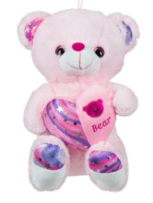 Ursuleț de pluș Inimă roz 30 cm