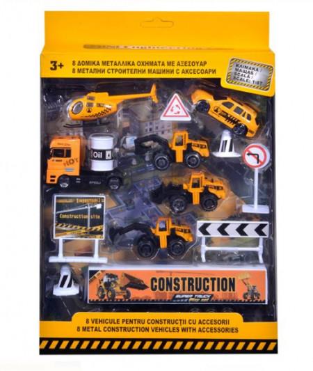 Set de vehicule și accesorii pentru construcții