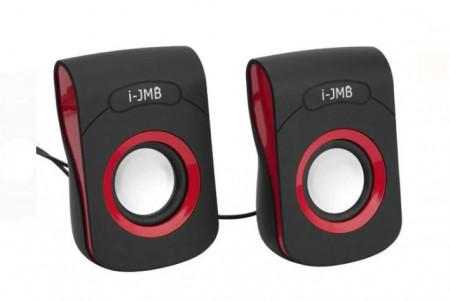 Boxe PC 3W Negru Roșu - 2 buc. i-JMB