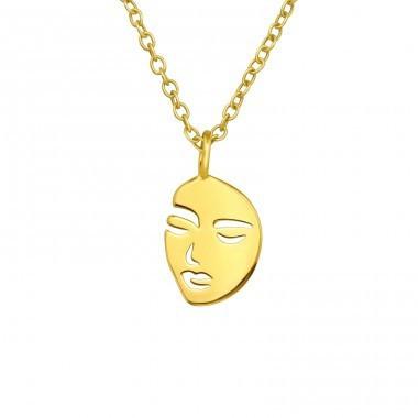 Colier Placat cu aur, Model Chip