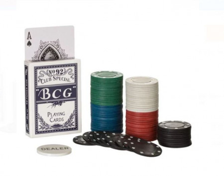 Jetoane poker 80 buc + carti