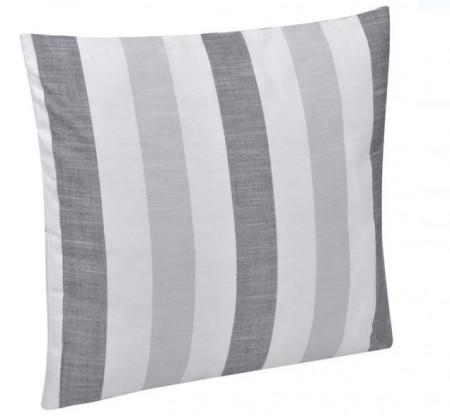 Pernă canapea cu dungi alb / gri 50x50