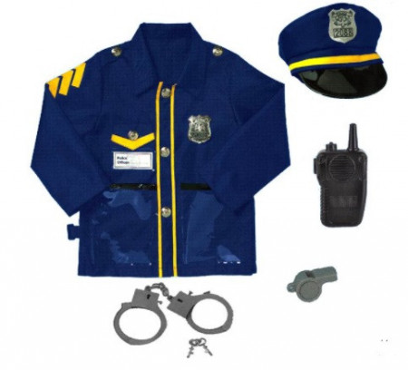 Set de politie, UNIFORMA DE POLITIE, SAPCA, CATUSE, FLUIER si STATIE