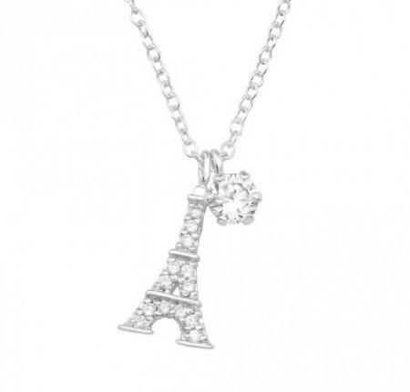 Colier Argint 925, Model Turnul Eiffel