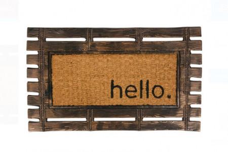 "<img src=""frm.png"" alt=""Covor de ușă - Bronz ușă de bronz lamele de paie Mesaj ""Bună ziua"". 75x45 cm"">"