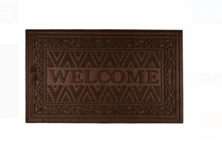 """<img src=""""covoras welcome.png"""" alt=""""Covor de ușă cu modele în relief maro - Bine ati venit - 75x45 cm"""">"""