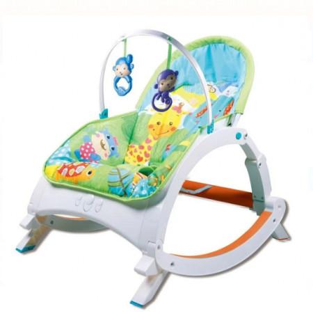 Leagan bebelusi cu vibratii si muzica, greutate maxima 18kg, 63x53x62 cm