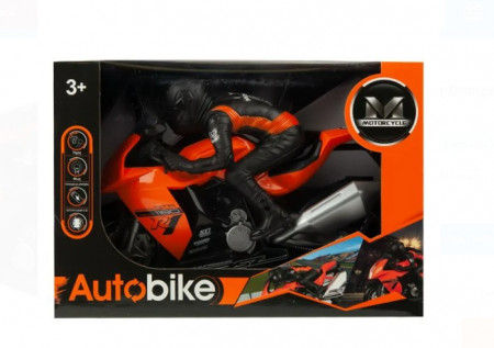 Motocicleta Bump&Go cu sofer - sunete si lumini, 31x13x22 cm, varsta 3+