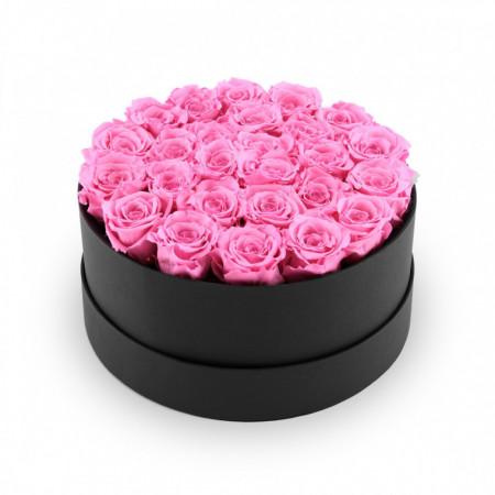 Aranjament floral - trandafiri sapun parfumati, 20-25 cm, configuratie
