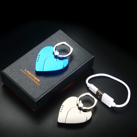 Bricheta electrica, incarcare USB, functie suport telefon, antivant, inima dubla