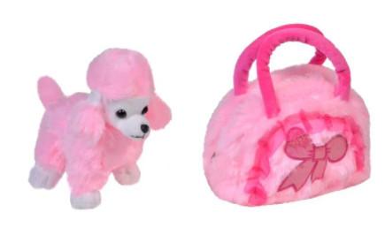 Caine de plus roz, caniche, 17 cm