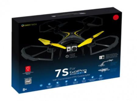 Giant Drone WIFI galben-negru, Negru -Galben, Plastic + Metal, 46x46x18cm