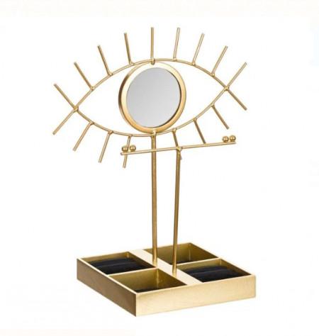 "<img src=""ochi.png"" alt=""Organizator metalic pentru bijuterii si accesorii, Pufo Gold Eye, model Premium, 30 cm"">"