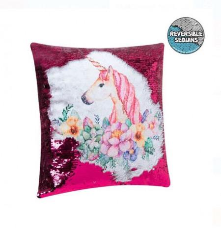 Pernă decorativă pentru canapea cu paiete 2-way Unicorn 40x40 cm