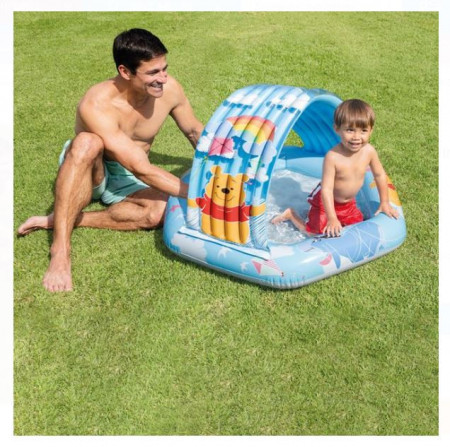 Piscina pentru copii cu umbră WINNIE 1,09x1,02x0,71 m - Intex