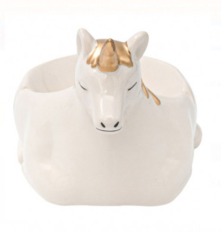 "<img src=""unii.png"" alt=""Scrumieră din argilă aur alb 3D Unicorn 11x15x11 cm"">"