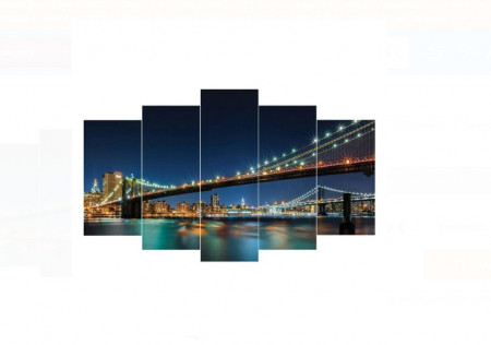 Tablou canvas format din 5 bucati - 100X60 CM