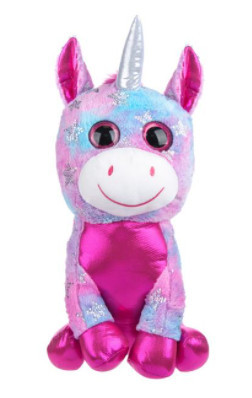 Unicorn de plus roz, 15 cm