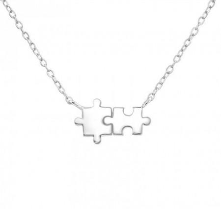Colier Argint 925, Model Puzzle