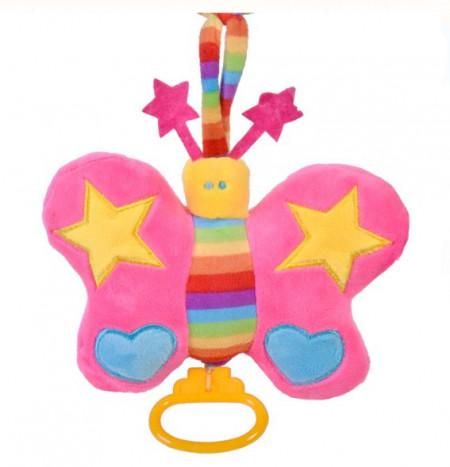 Jucarie suspendata carucior - fluture roz