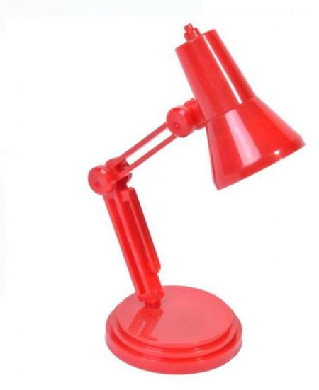 Mini lanternă de lectură cu clip și bază roșie