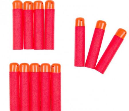 Săgeți de rezervă, spumă, portocaliu 9 cm - 12 buc.