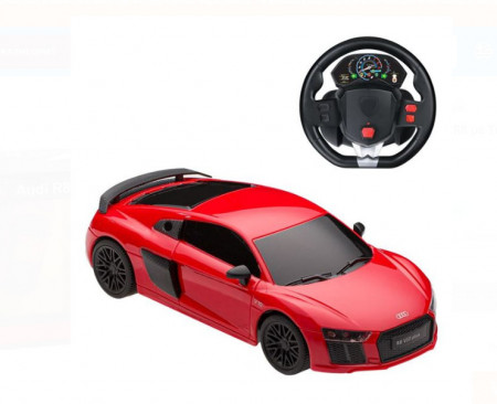 Audi R8 cu telecomanda tip volan 1:24