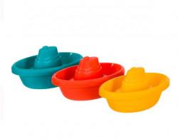 Barci de jucarie de baie colorate 13x6x4 cm - 3 buc