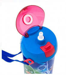 Bidon apa pentru copii cu mecanism pop-up si design PJ Masks