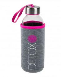 Bidonas din sticla roz - 400 ml
