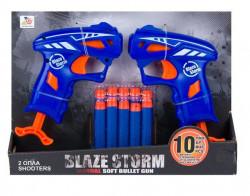 Blaze Storm Soft Bullet Gun & 10 Săgeți - 2 buc.