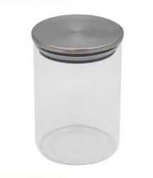 Borcan de depozitare cu capac din metal - 500 ml