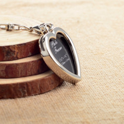 Breloc metalic personalizat - inima