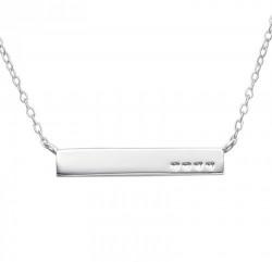 Colier Argint 925, Mod. Inima Inline - Gravura personalizata
