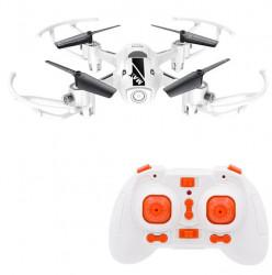 Drone alba, frecventa 2.4G, lumini LED. durata zbor 5-7 minute