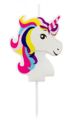 Lumânare de ziua de naștere pentru fată cu design unicorn