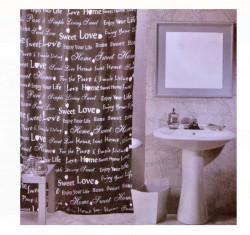 Perdea baie - cuvinte - 180x180cm