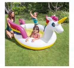 Piscină pentru copii in forma de Unicorn 272x193x104 - Intex