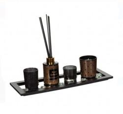Set de bază - tava cu oglinda - suport lumânări și betisoare aromate