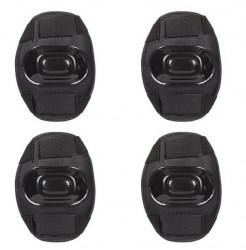Set de protecție skateboard negru - 4 buc.