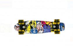 Skate Pennyboard Aluminiu - Design Graffiti 56x14x10 cm