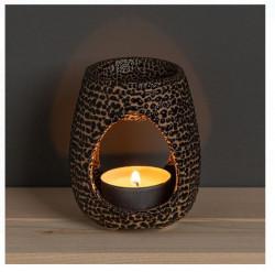 Suport pentru lumanare din ceramică cu model in relief pentru aromaterapie