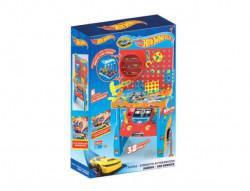 Banc de lucru Hot Wheels pentru copii, atelierul complet utilat, 38 unelte diferite, 49x19x80 cm, +3 ani