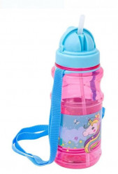 Bidon apa pentru copii cu mecanism pop-up și design unicorn