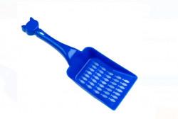 Lopata perforata albastra - toaleta pisici 27x9