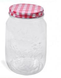 Borcan din sticlă cu capac metalic 1000 ml.