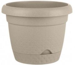 Ghiveci din plastic cu farfurie încorporată - 2.2 litri
