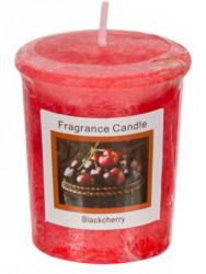 Lumanare aromatica rosie, aroma de cirese negre, 4,5x5 cm