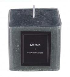 Lumanare parfumata patrata - mosc - 7,5x7,5x7,5 cm